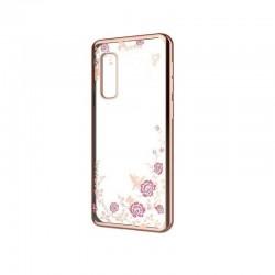 Silikonový obal s motýlky a květinami pro Xiaomi Mi 10 Pro