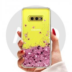 Obal na Samsung Galaxy S10e | Přesýpací kryt se srdíčky