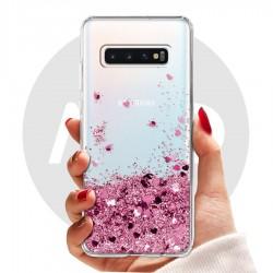 Obal na Samsung Galaxy S10 | Přesýpací kryt se srdíčky