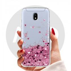 Obal na Samsung Galaxy J5 2017 | Přesýpací kryt se srdíčky