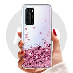 Obal na Huawei P40 | Přesýpací kryt se srdíčky