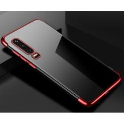 TPU obal na Honor 9X Pro s barevným rámečkem - Červená