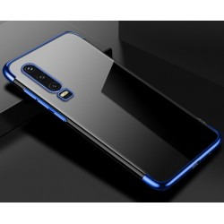 TPU obal na Honor 9X Pro s barevným rámečkem - Modrá
