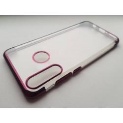 TPU obal na Huawei Y6p s barevným rámečkem - Fialová