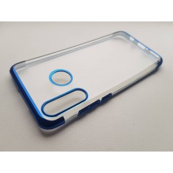 TPU obal na Huawei Y6p s barevným rámečkem - Modrá