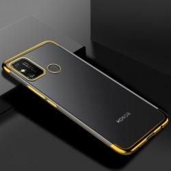 TPU obal na Honor 9A s barevným rámečkem - Zlatá