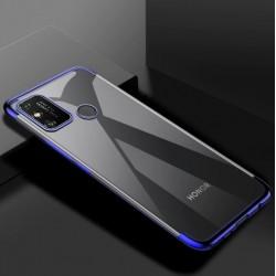 TPU obal na Honor 9A s barevným rámečkem - Modrá