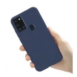 Liquid silikonový obal na Samsung Galaxy A21s | Eco-Friendly - Modrá