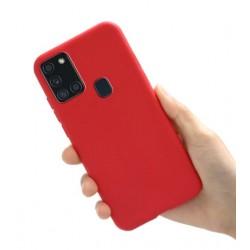 Liquid silikonový obal na Samsung Galaxy A21s | Eco-Friendly - Červená