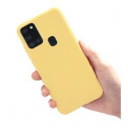Liquid silikonový obal na Samsung Galaxy A21s | Eco-Friendly - Žlutá