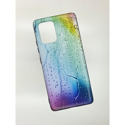 Silikonový obal na Samsung Galaxy A31 s potiskem - Kapky