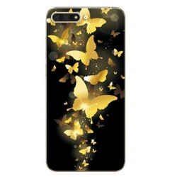 Silikonový obal s potiskem na Honor 8 Pro - Zlatí motýli