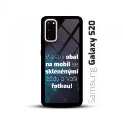 Obal s vlastní fotkou a skleněnými zády na mobil Samsung Galaxy S20