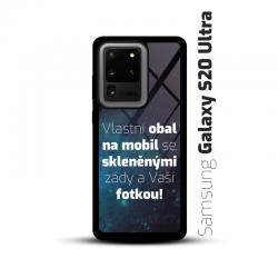 Obal s vlastní fotkou a skleněnými zády na mobil Samsung Galaxy S20 Ultra