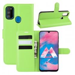 Knížkové pouzdro s poutkem pro Samsung Galaxy M11 - Zelená