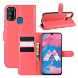 Knížkové pouzdro s poutkem pro Samsung Galaxy M11 - Červená