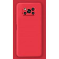 Liquid silikonový obal na Xiaomi POCO X3 | Eco-Friendly - Červená