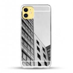 Zrcadlový TPU obal na iPhone 12 - Stříbrný lesk