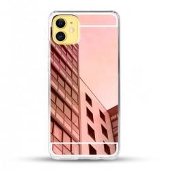 Zrcadlový TPU obal na iPhone 12 - Růžový lesk
