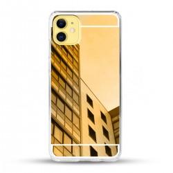 Zrcadlový TPU obal na iPhone 12 - Zlatý lesk