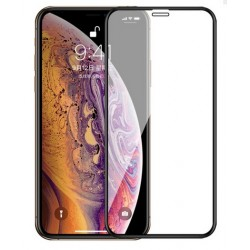 Tvrzené ochranné sklo s černým rámečkem na mobil iPhone 12 Pro