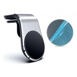 Magnetický držák s designem broušeného kovu na mobil do mřížky