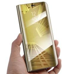 Zrcadlové pouzdro na Samsung Galaxy M11 - Zlatý lesk