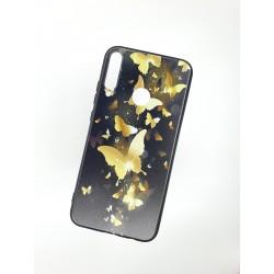 Silikonový obal s potiskem na Samsung Galaxy A20s - Zlatí motýli