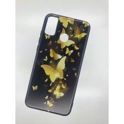 Silikonový obal na Samsung Galaxy M21 s potiskem - Zlatí motýli