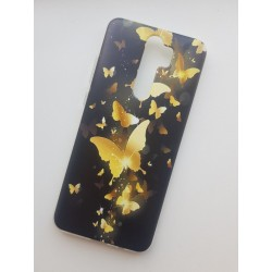 Silikonový obal na Xiaomi Redmi 9 s potiskem - Zlatí motýli