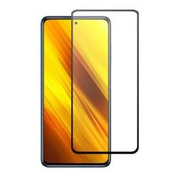 Tvrzené ochranné sklo s černými okraji na mobil Xiaomi POCO X3