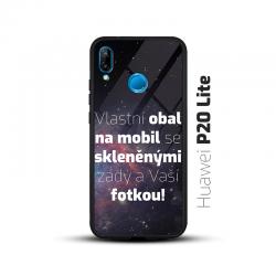 Obal s vlastní fotkou a skleněnými zády na mobil Huawei P20 Lite
