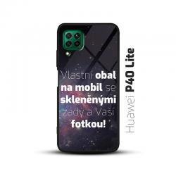 Obal s vlastní fotkou a skleněnými zády na mobil Huawei P40 Lite