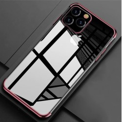 TPU obal na iPhone 12 Pro Max s barevným rámečkem - Fialová
