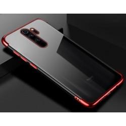 TPU obal na Xiaomi Redmi 9 s barevným rámečkem - Červená