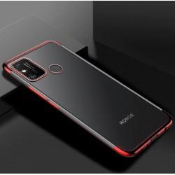 TPU obal na Xiaomi Redmi 9C s barevným rámečkem - Červená