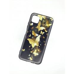 Silikonový obal na Samsung Galaxy A42 5G s potiskem - Zlatí motýli