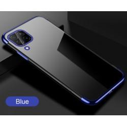 TPU obal na Samsung Galaxy A12 s barevným rámečkem - Modrá