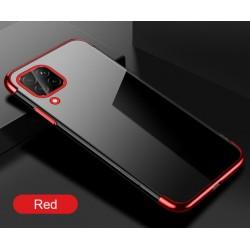 TPU obal na Samsung Galaxy A12 s barevným rámečkem - Červená