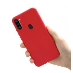 Liquid silikonový obal na Samsung Galaxy M11 | Eco-Friendly - Červená