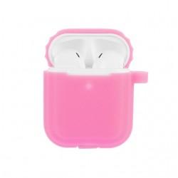 AirDots silikonový obal   Fosforový - Růžová