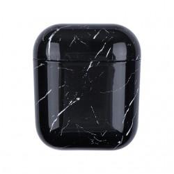 AirDots pevný obal s dekorem mramoru - Černá