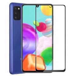 Tvrzené ochranné sklo s černými okraji na mobil Samsung Galaxy A02s