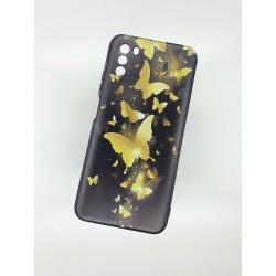Silikonový obal na Samsung Galaxy A12 s potiskem - Zlatí motýli