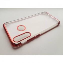 TPU obal na Samsung Galaxy A20s s barevným rámečkem - Červená