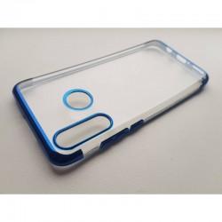 TPU obal na Samsung Galaxy A20s s barevným rámečkem - Modrá