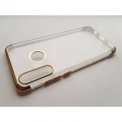 TPU obal na Samsung Galaxy A20s s barevným rámečkem - Zlatá