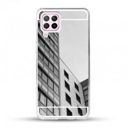 Zrcadlový TPU obal na Samsung Galaxy A12 - Stříbrná