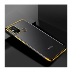 TPU obal na Realme 7i s barevným rámečkem - Zlatá