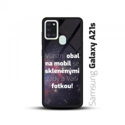 Obal s vlastní fotkou a skleněnými zády na mobil Samsung Galaxy A21s